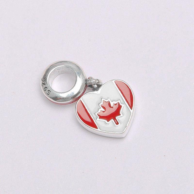 Sterling Silver Charms Pendant Beads Canada Style Diy Pendant For Original Pandora Bracelet Bangle DIY Jewelry XCY044