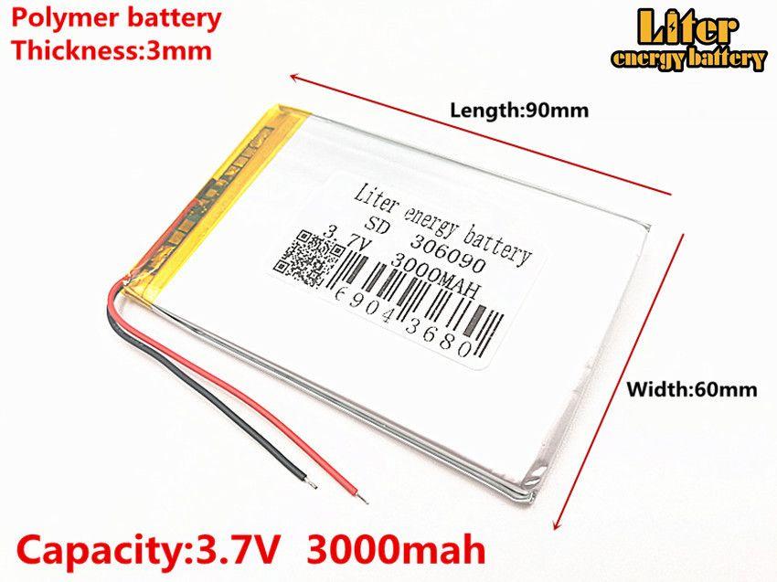 3.7 V 306090 haute capacité lithium polymère batteries 286090 3000 MAH batterie universelle Rechargeable