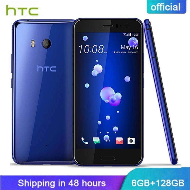 Original HTC U11 6GB RAM 128GB ROM Snapdragon 835 Fingerprint 4G LTE 5.5 inch IP67 Waterproof 2560x1440p 16.0 MP Mobile Phone