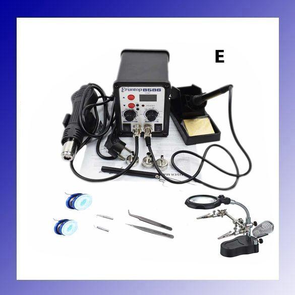 High Quality 750W 2 in 1 SMD Rework Soldering Station Eruntop 8586 Better than YOUYUE ATTEN 8586 Hot Air Gun + Solder Iron
