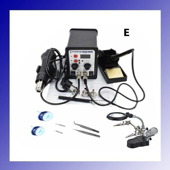 High Quality 750W 2 in 1 SMD Rework Soldering Station Eruntop 8586 Better than  YOUYUE ATTEN 8586  Hot Air Gun + Solder Iron