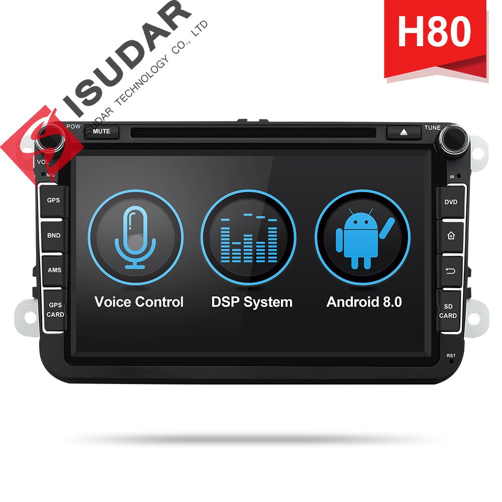 Isudar H80 Auto Multimedia player Android 8.0 2 Din Autoradio Für VW/Volkswagen/POLO/Golf/PASSAT/ b6/Skoda GPS Voice Control DSP