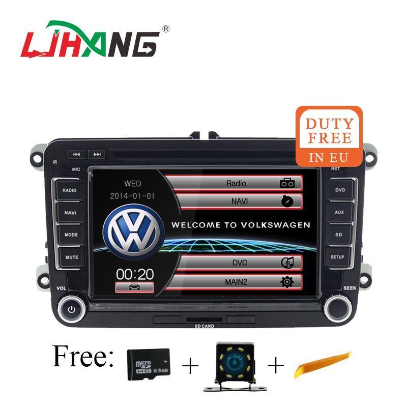LJHANG 7 zoll Auto audio Auto dvd Player Für VW Passat B6 Jetta VW T5 Tiguan Octavia Fabia SEAT Leon GOLF GPS Navi Automotive RDS