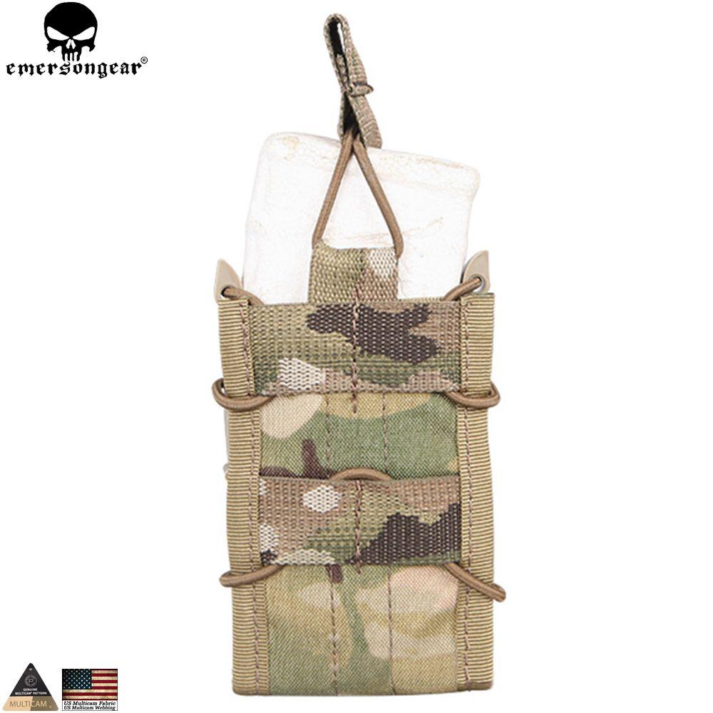 EMERSONGEAR Tactique Unique Fusil Mag Poche Militaire Armée Chasse Utilitaire Multicam Magazine Pouch pour M4 M14 AK G3 EM6345