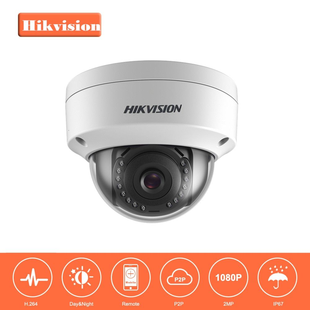 In Stock Hikvision 1080P Security IP Camera 2MP CMOS PoE IP Camera outdoor DS-2CD1121-I with DWDR IP 67 No SD card Slot
