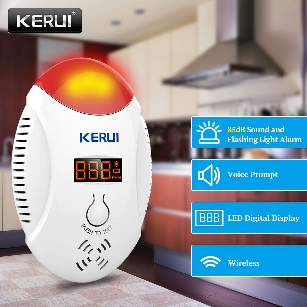 KERUI Led-digitalanzeige Kohlenmonoxid Radar-detektor-stimme Strobe Home Security Sicherheits CO-Gas Alarm Detector Sensor Alarm