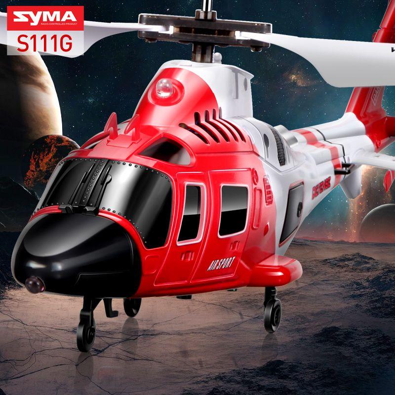 SYMA S111G Attaque Marines RC Hélicoptère Avec LED Lumière 3.5CH Hélicoptère Télécommande RC Drone Incassable Jouets Pour Enfants