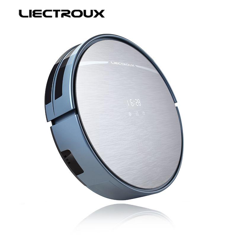 LIECTROUX X5S Roboter Staubsauger, WIFI APP Control, Gyroskop Navigation, Umschaltbar Wasser Tank & Staub Bin, zeitplan, Auto-Lade