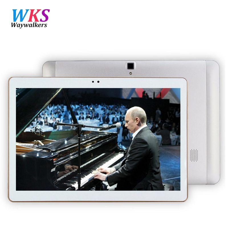 Waywalkers Date S106 4G 10 pouce tablet pc Android 6.0 octa core 4 GB RAM 64 GB ROM 5MP IPS Comprimés Téléphone tablet ordinateur MT8752