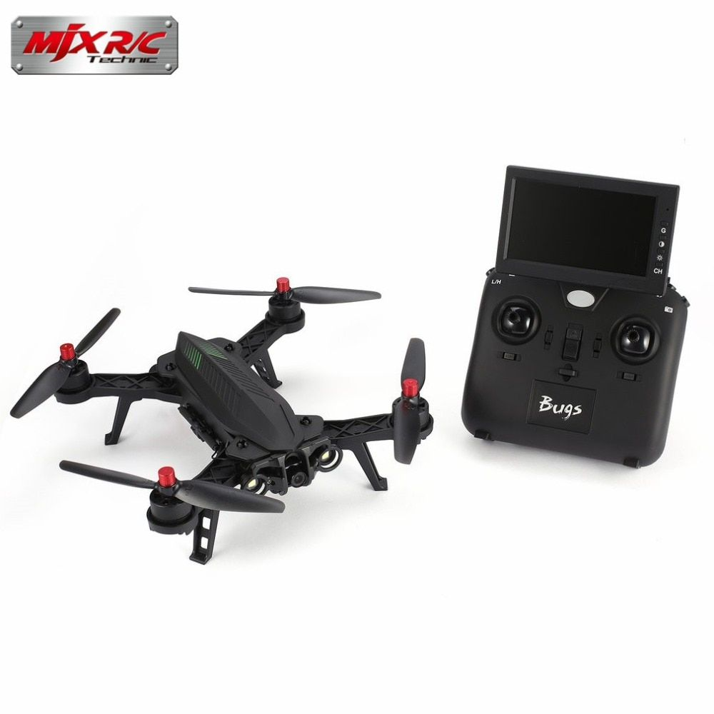 MJX Bugs 6 B6FD 2.4GHz 4CH 6 Axis Gyro RTF Drone With HD 720P 5.8G FPV Camera And 4.3