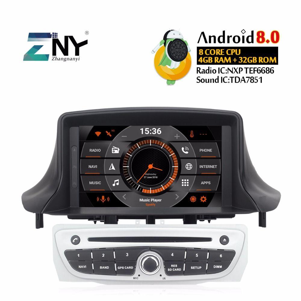 Android 8.0 Car DVD 1Din Autoradio For Megane 3 2009-2014 Fluence 7