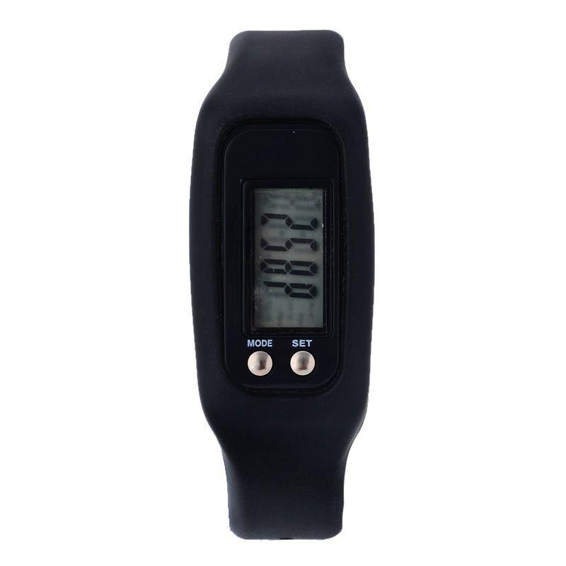 HX-Sport-Uhr-Armband-Schrittzähler Handgelenk-Schritt Fuß-Calorie-Gegen Tracker Farbe: Schwarz