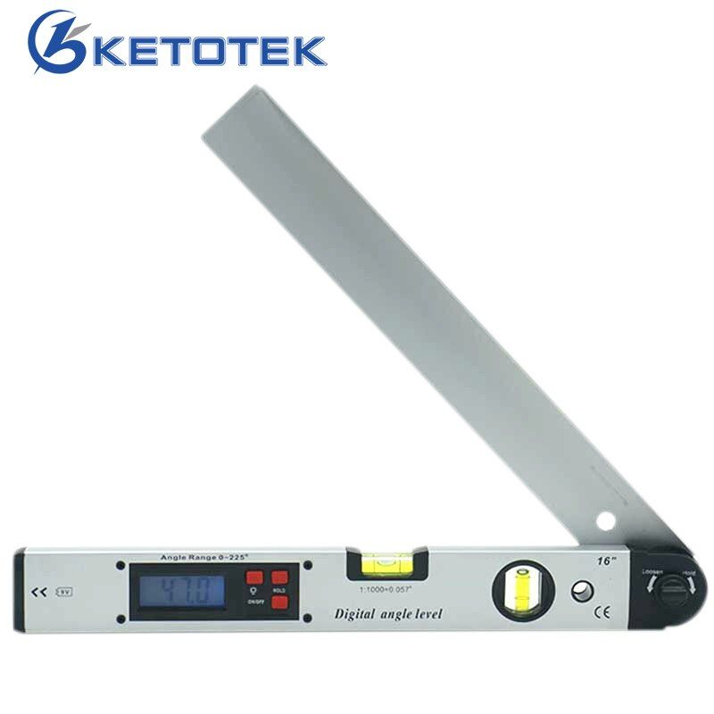 0-225 degree Digital Angle Level Meter Gauge 400mm <font><b>16inch</b></font> Electronic Protractor free shipping