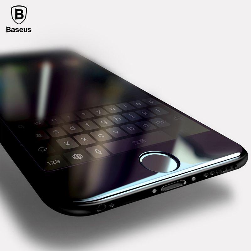 Baseus 3D Plein Écran Trempé Film Pour iPhone 6 6 s Verre Film pour iPhone 6 s 7 7 Plus Protecteur D'écran 0.3mm 9 H Téléphone Avant Film