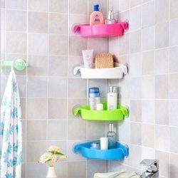Baño lechón bastidores cocina titular colorido pared Montado en Rack de almacenamiento de esquina 4 colores