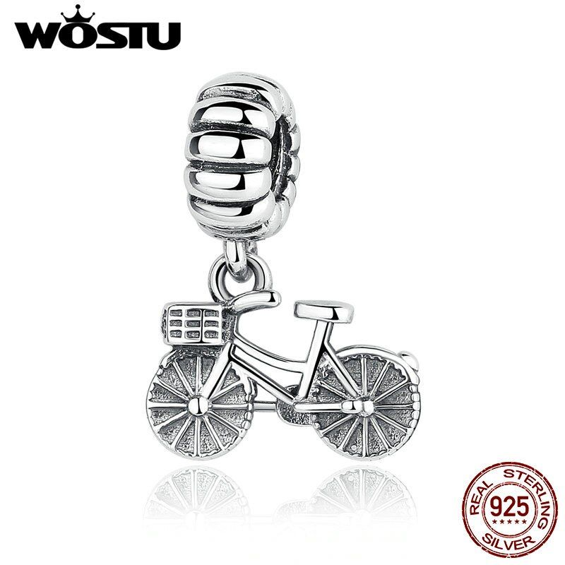 New Arrival 100% 925 Sterling Silver Bike Bicycle Charm Beads Fit Original wst Bracelet Pendant Authentic DIY Jewelry