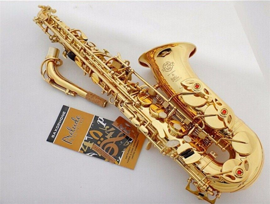 High Quality France Henri SAS-802 New Golden Sax E Flat Alto Saxophone Super Playing Musical Instruments Mouthpiece Gift Free