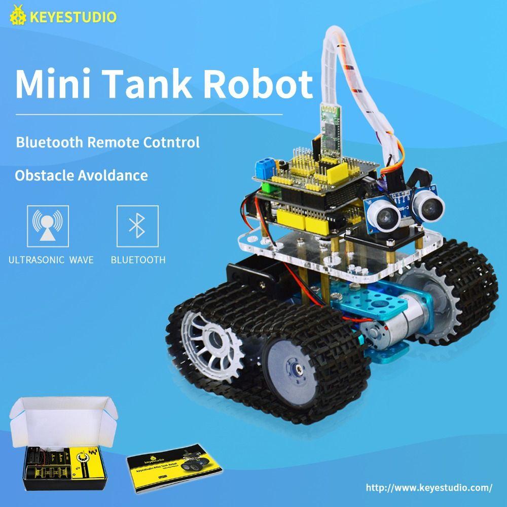 Keyestudio DIY Mini Tank Smart <font><b>Robot</b></font> car kit for Arduino <font><b>Robot</b></font> Education Programming+manual+PDF(online)+5 Projects