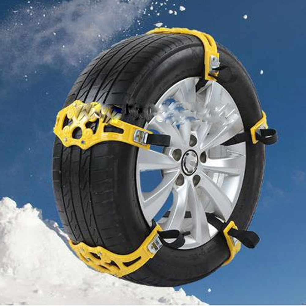 Black 8pc Car Vehicle Truck Off-Road SUV Safe Snow Tire Chain Anti-skid Universal Black Climbing Snow Mud Road Security