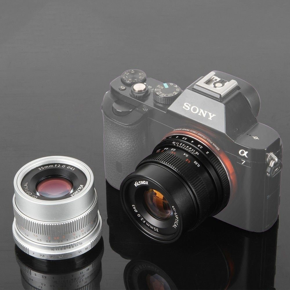 Viltrox 35mm F2 Wide-Angle Large Aperture Fixed Prime Lens for Sony NEX E Full Frame Camera A9 A7SII A7RII A7R A6300 A6500 NEX-7