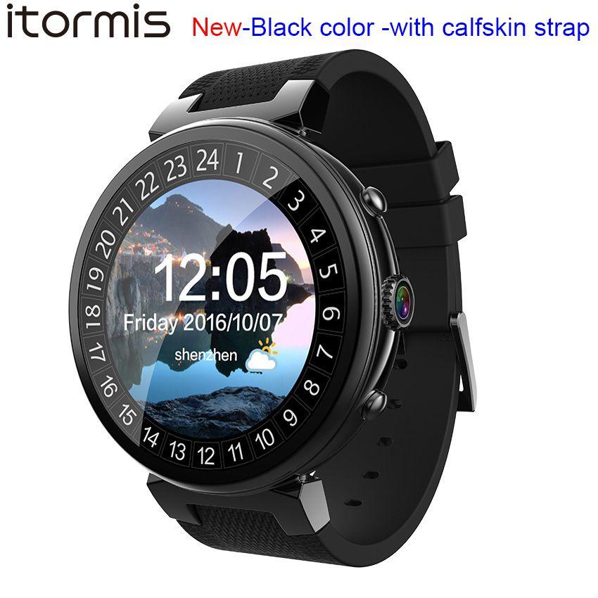 ITORMIS Android 5.1 Montre Smart Watch Smartwatch Montre-Bracelet MTK6580 16G ROM 2G RAM 3G SIM WiFi Sport Fitness 2MP Caméra GPS Fréquence Cardiaque