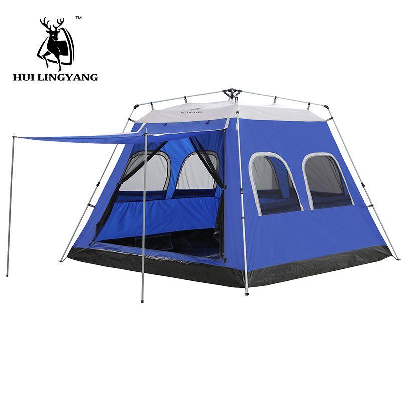 GAZELLE Camping Zelt 5-8 Person Hydraulische automatische offenen zelt Im Freien Große Reisen Picknick Auto Zelt wasserdicht familie zelt