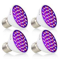 (4pcs/Lot) 60 LEDs Grow Light E27 85-265V Full Spectrum Indoor Plant Lamp For Seedling Vegs Flower Hydroponic System Plant Light
