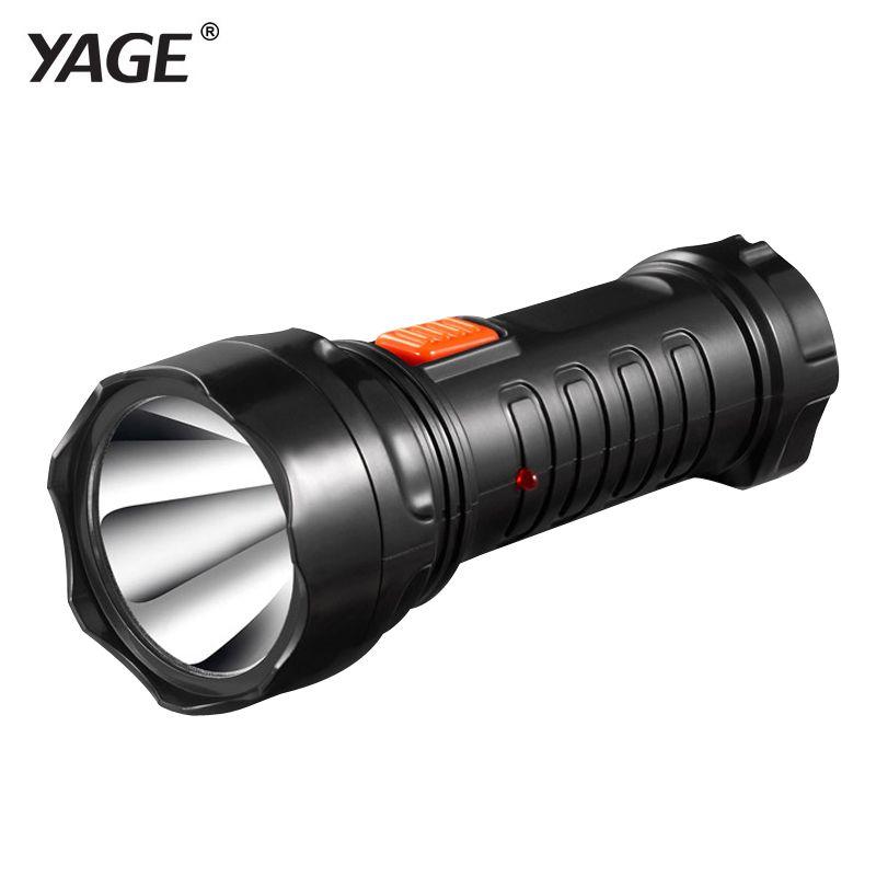 YAGE-3738 Lampe de poche LED Torche rechargeable batterie intégrée lumière 2 modes lanterne Linterna Lampe Torche EU/USA/UK