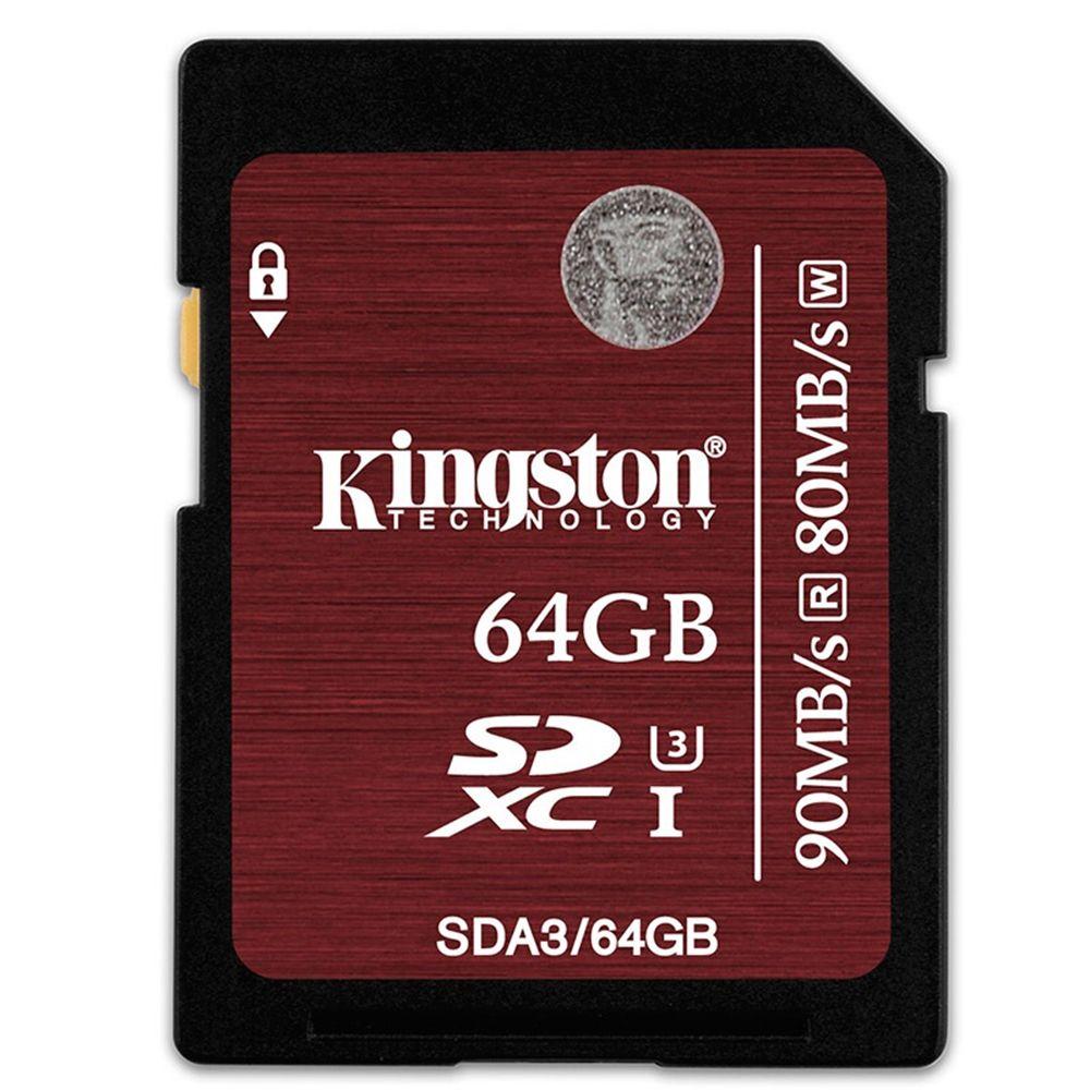Kingston SD Card SDHC/SDXC UHS-I U3 Class 10 Memory Card 32GB 64GB Up to 90MB/s For Camera HD Full 1080p HD 3D Video