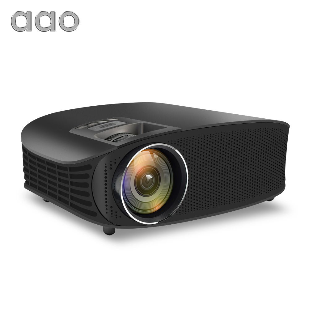 AAO YG600 Update YG610 HD Projector 3600 Lumens Wired Sync Display Beamer Multi Screen Home Theatre HDMI VGA USB Video Projector