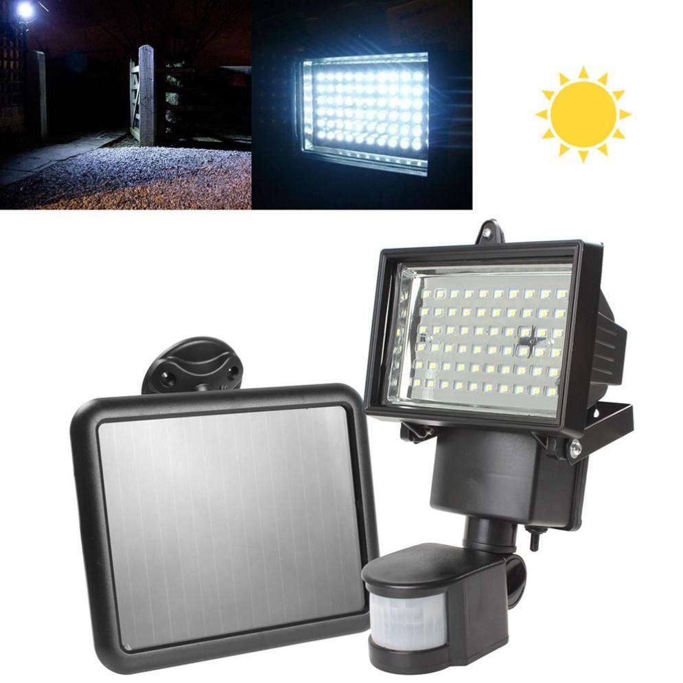 Haute Qualité Panneau Solaire LED Flood Sécurité Garden Light PIR Motion Sensor 60 LED s Chemin Mur Lampes D'urgence En Plein Air lampe
