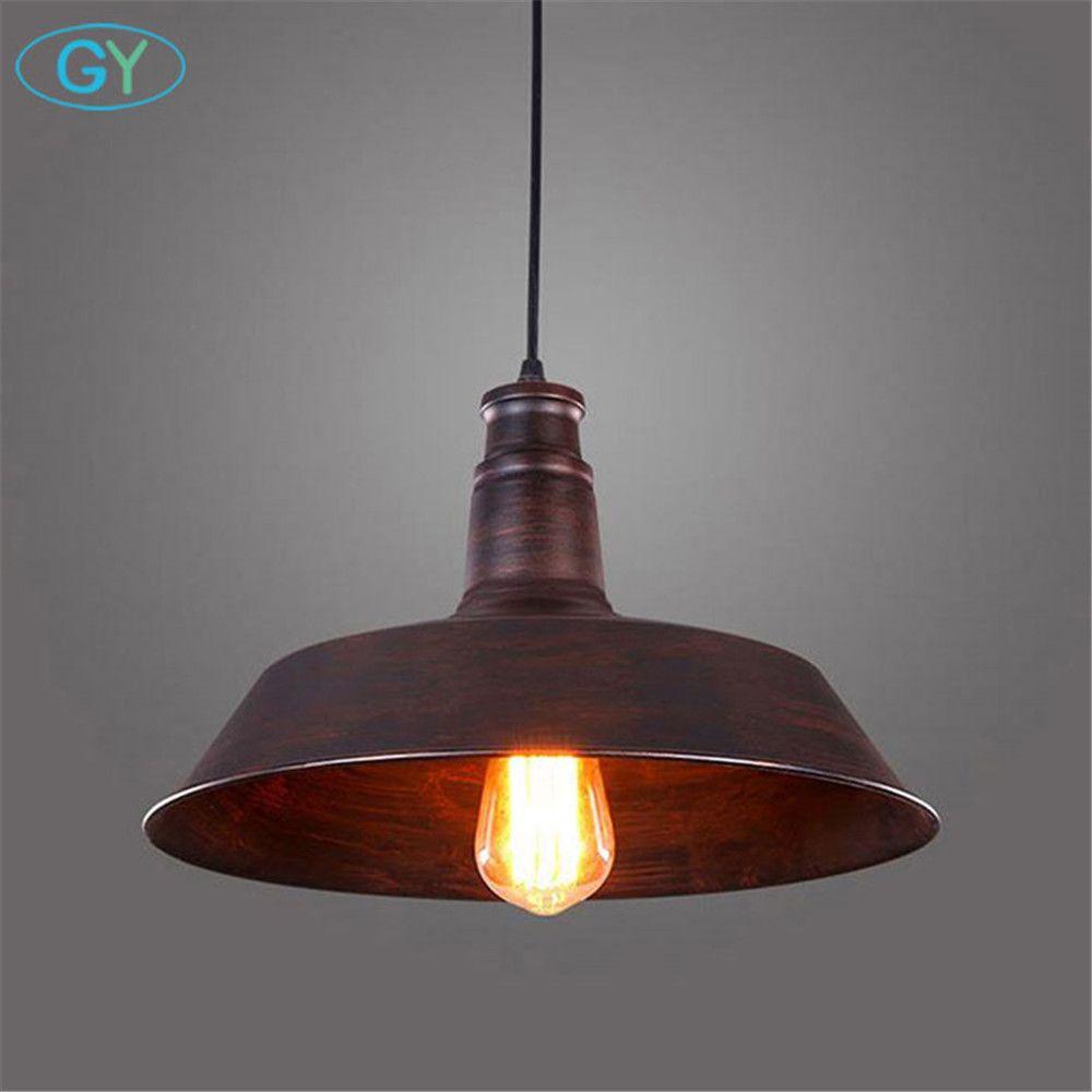 Vintage Rustique En Métal LED Pendentif lampe Edison pendentif lumières Rétro Lustre suspendu lampe Mobilier Industriel éclairage lamparas