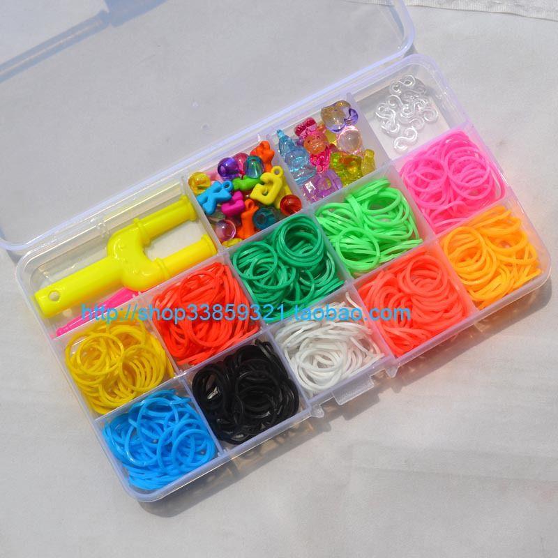 Bandes de caoutchouc arc-en-ciel 10 couleurs de haute qualité pour bracelet à bricoler soi-même, bandes de caoutchouc arc-en-ciel multicolores