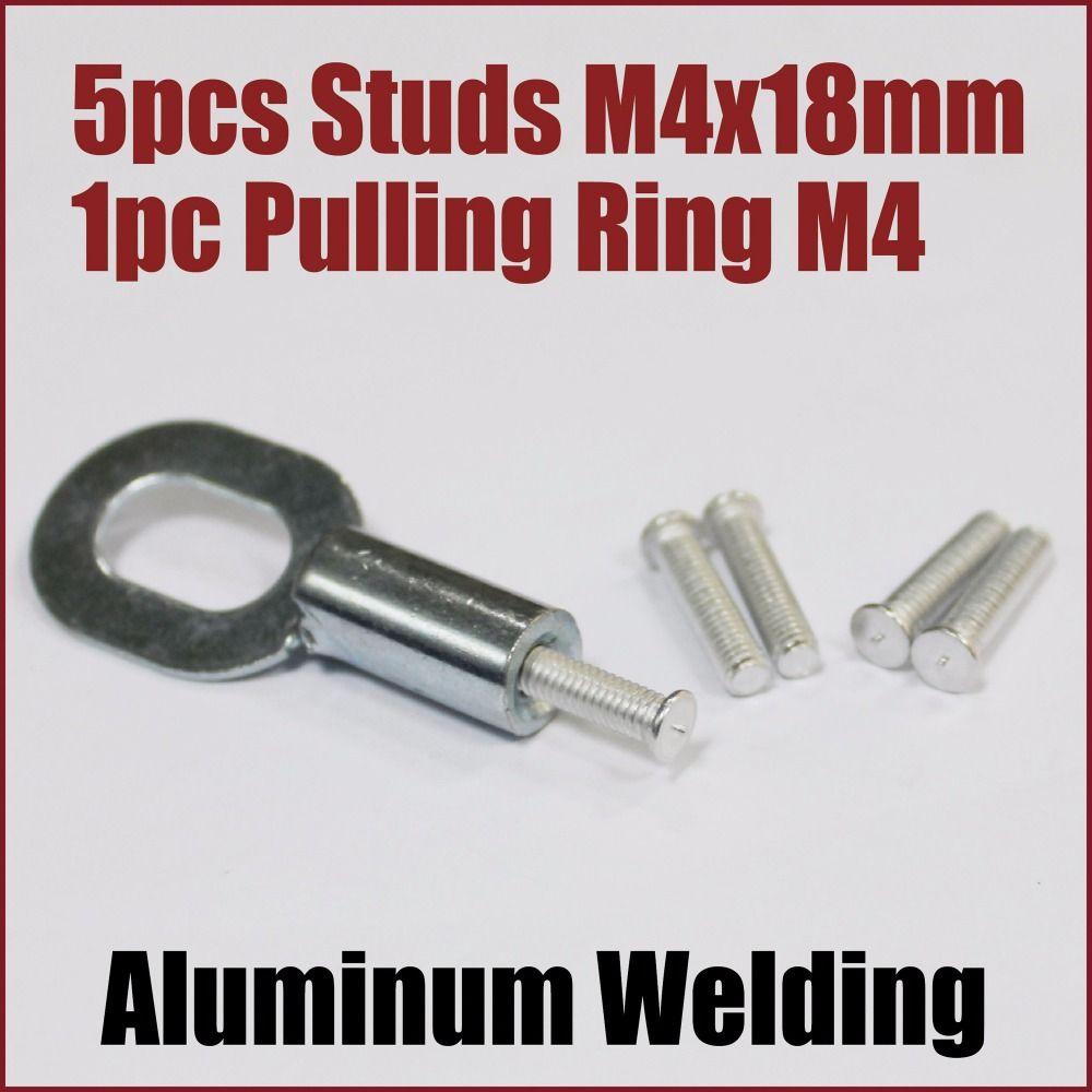 Car body dent repair tools aluminum welding pulling screw CD weld studs remove dents bodyworks auto garage workshop welder gun