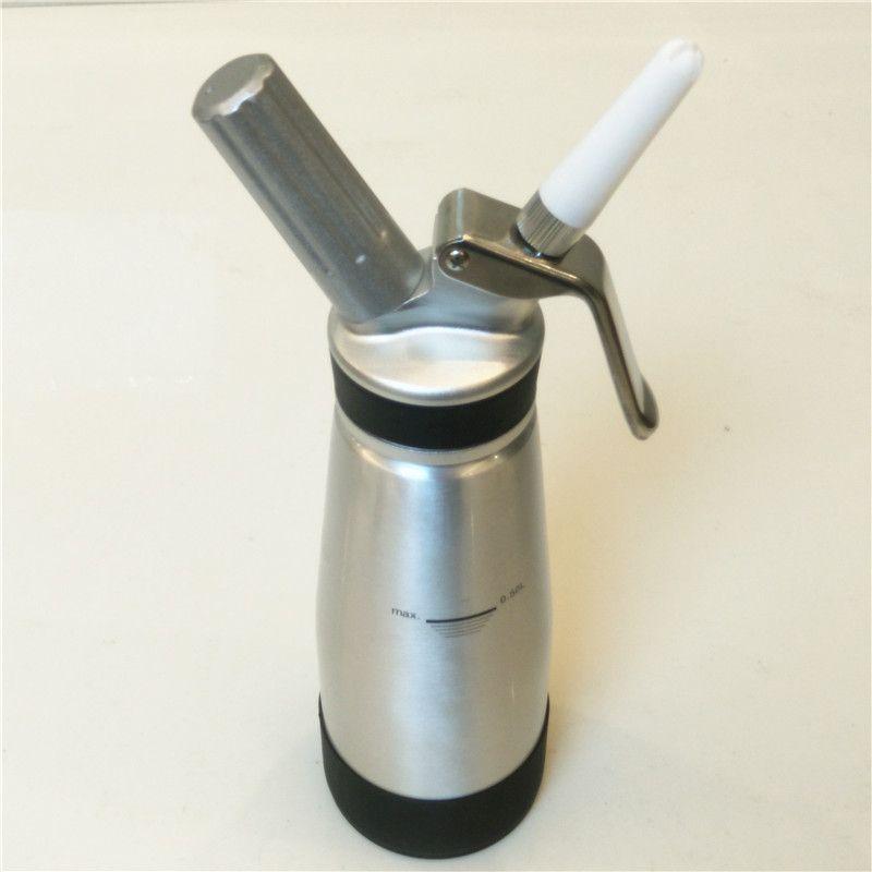 Whipped Cream Dispenser-Aluminium Body & Head-500ml Cream Whipper-3 Decorating Nozzles-Uses Standard N20 Cartridges(not included