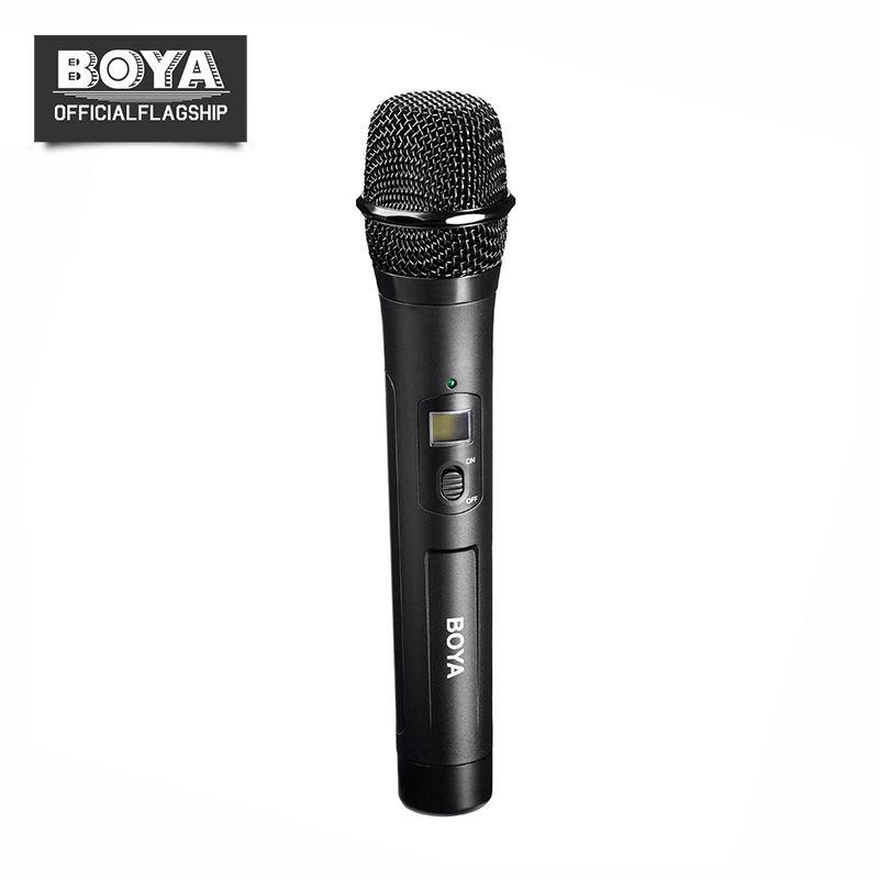 BOYA BY-WHM8 Microphone UHF transmission avec 48UHF canaux Travailler avec BY-WM8/BY-WM6 Récepteur Sans Fil De Poche Micro Système