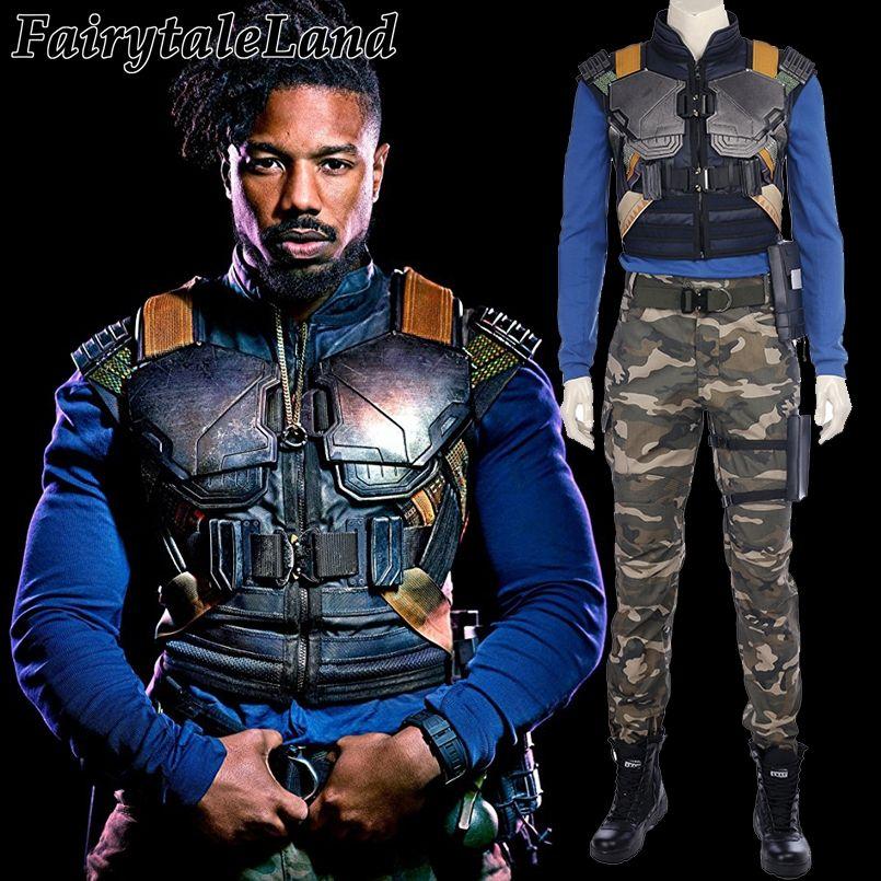 2018 Black Panther Erik Killmonger Cosplay Costume Carnival Halloween costume Cosplay Panther Erik Killmonger costume suit