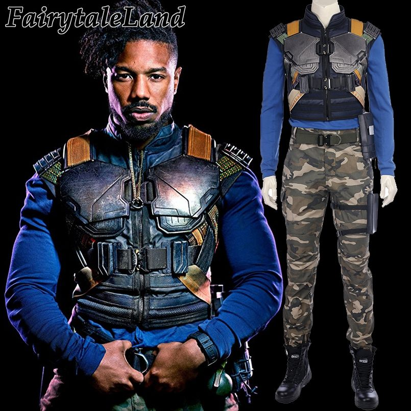 2018 Black Panther Erik Killmonger Cosplay Costume Carnival Halloween costume Cosplay Panther Erik Killmonger costume suit