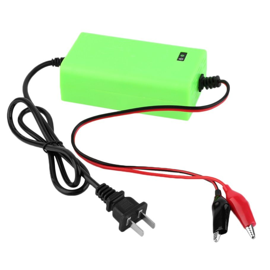 12V 2A Intelligent auto Car Battery Charger Voltage Rechargeable Battery Power Charger 220V Automatic Power Supply green color