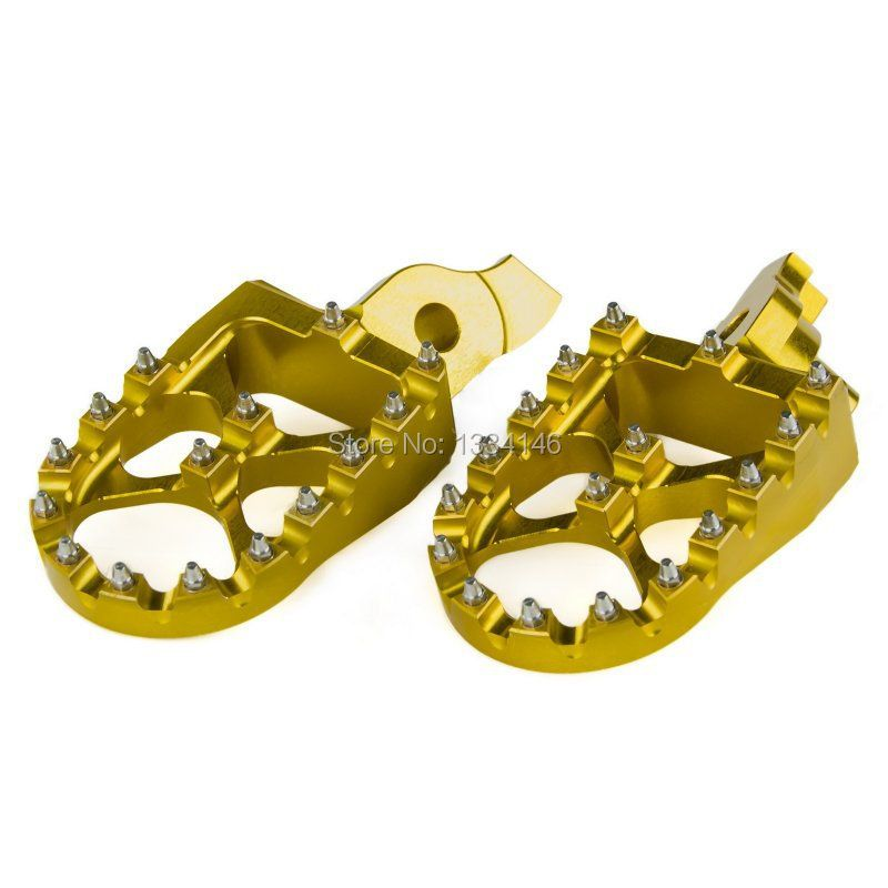 Oversized MX Racing Foot Pegs Footrests For Suzuki RMZ RM-Z 450 2005 2006 2007 Gold