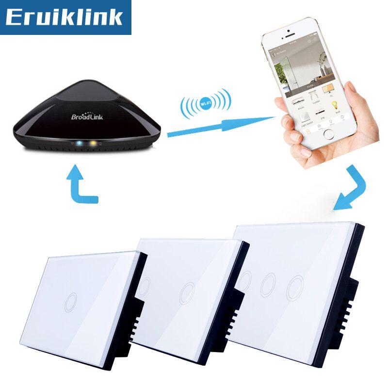 US/UA Standard 1/2/3 gang 1 way commutateur de contact, RF433 lumière maison Intelligente télécommande commutateur + LED Indicateur Comaptible Broadlink Pro