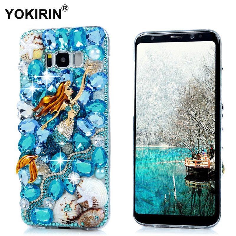 YOKIRIN S8 Plus Strass Cas 3D Bling Diamant Capa Funda de protection Dur de Couverture Arrière de Cas de Téléphone Pour Samsung Galaxy S8 Plus