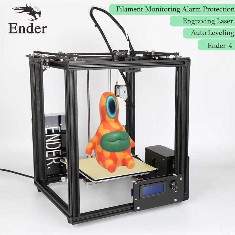 Ender-4 3D Printer Laser,Auto Leveling,Filament Monitoring Alarm Protection Reprap Prusa i3 core-H 3D printer Kit n 5M filament