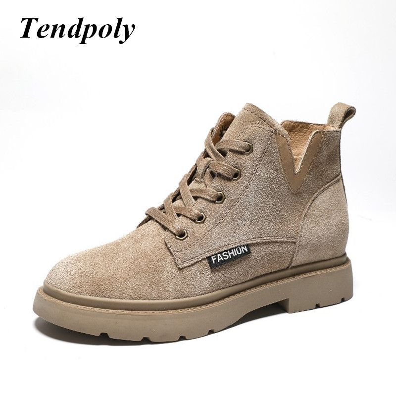 New British style fashion retro Martin boots spring autumn leather matte short tube women's boots sell well flat casual shoes
