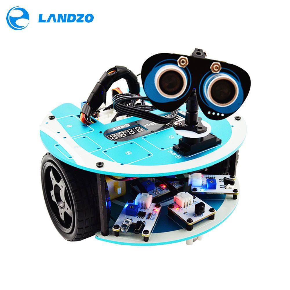 LANDZO Autel 1 s Programmable Intelligent Robot Voiture Kit avec Arduino Projets
