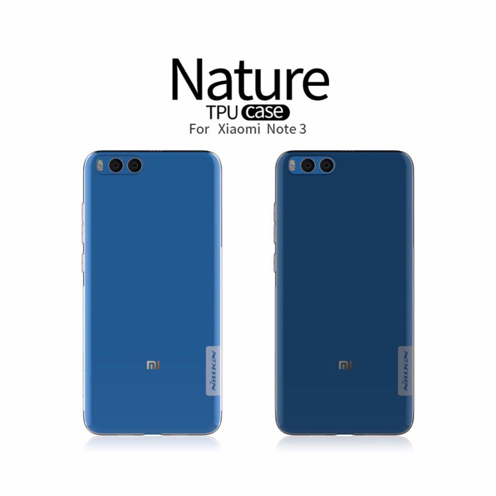 Xiaomi Mi Note 3 Note3 case cover NILLKIN Nature clear TPU Transparent soft case for xiaomi Mi Note 3 Luxury brand