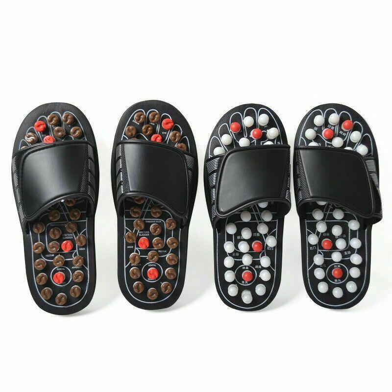Acupoint Massage pantoufles sandale pour hommes pieds chinois acupression thérapie médicale rotatif pied masseur chaussures unisexe