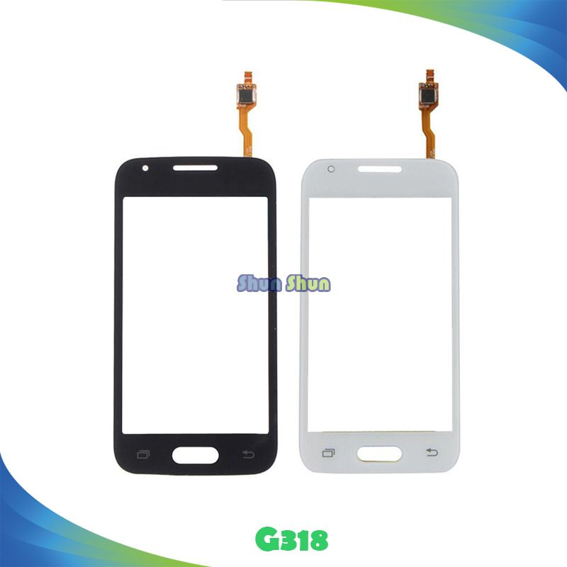 4.0 pour Samsung Galaxy SM-G318H G318h G318 Écran Tactile Digitizer Capteur Avant Lentille En Verre Panneau Noir Blanc Pièces De Rechange