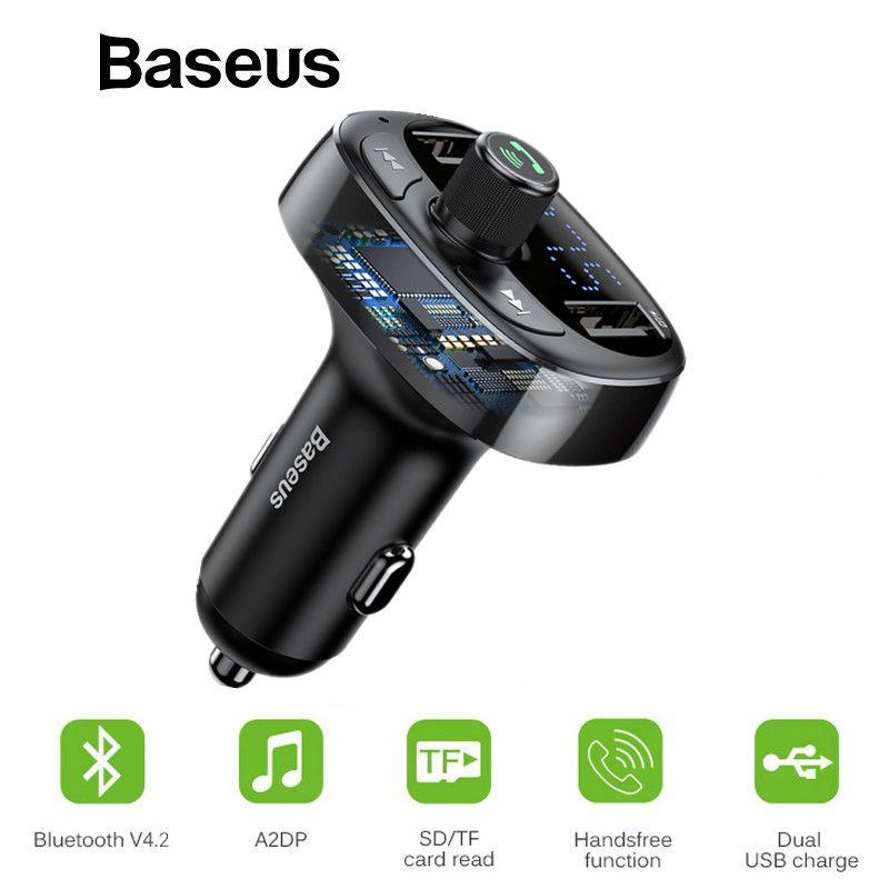 Baseus FM modulateur transmetteur Bluetooth Kit mains libres voiture Audio lecteur MP3 avec 3.4A double USB voiture FM transmetteur chargeur de téléphone