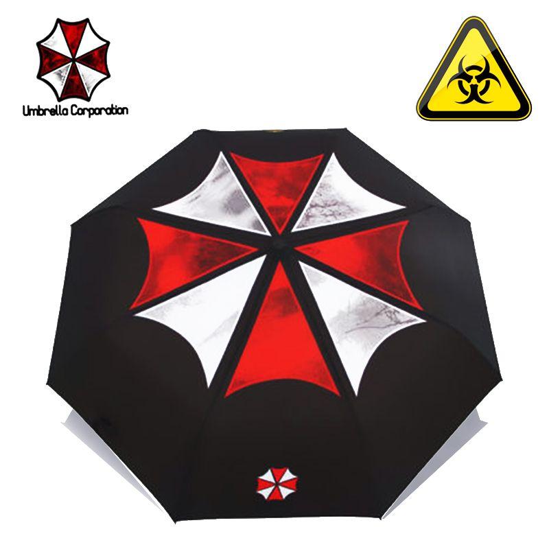 Comme pluie film créatif Biohazard parapluie mode hommes pliant parapluie femmes Anime parapluies créatif film soleil parapluie UBY17